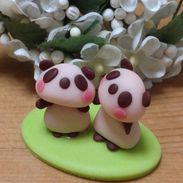 パンダのクレイ人形3番の画像1枚目