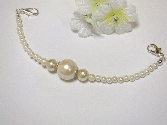 羽織紐◆エレガントな白。o〇結婚式のお呼ばれにの画像1枚目