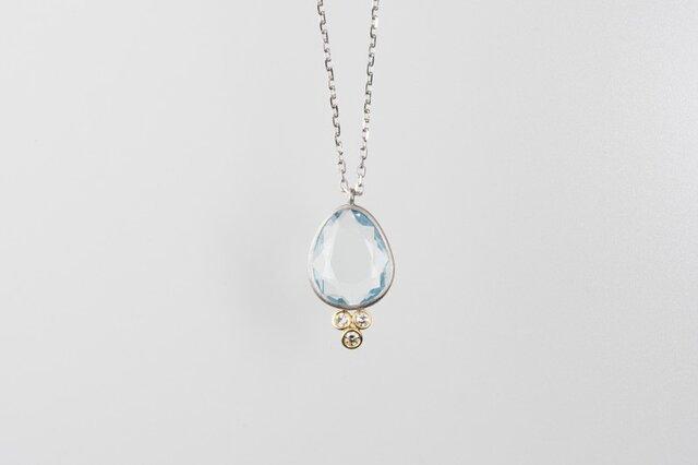 Duras アクアマリンダイヤモンドネックレスの画像1枚目