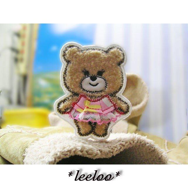 ★くまさんのファッションショー★ピンクのフリル付きワンピース2の画像1枚目