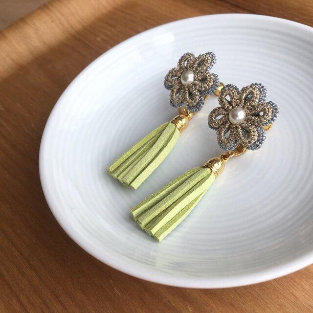 tassel earring /pierce【4色から選べます】の画像1枚目