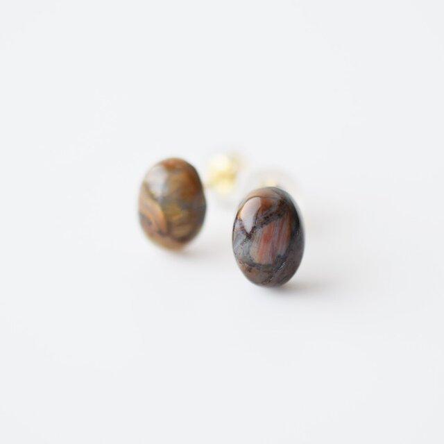 天然石ピアス/ピータサイトの画像1枚目