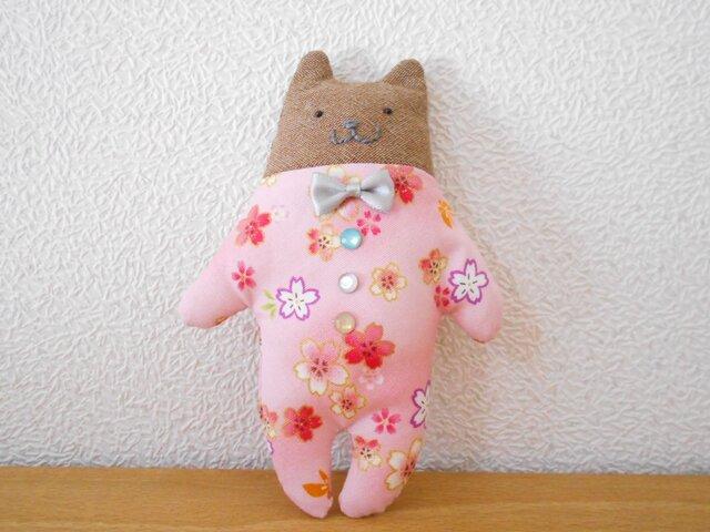桜模様の子猫ちゃんの画像1枚目