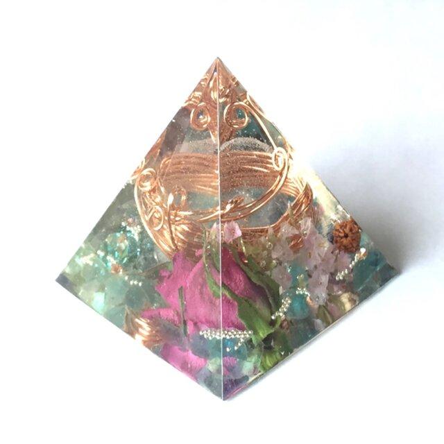 オルゴナイト 導き アパタイト アイオライト ピラミッドの画像1枚目