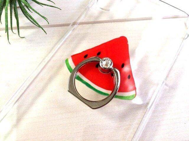 スワロフスキーきらきらスマホリングつきiPhone/Xperia クリアハードケースの画像1枚目