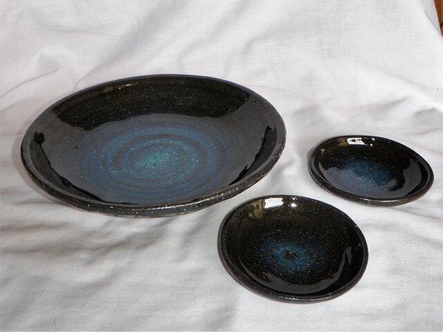 セットでお得!丸皿&2小皿(N-131)の画像1枚目