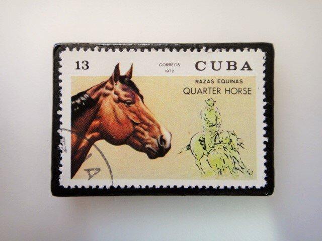 キューバ 馬切手ブローチ3500の画像1枚目