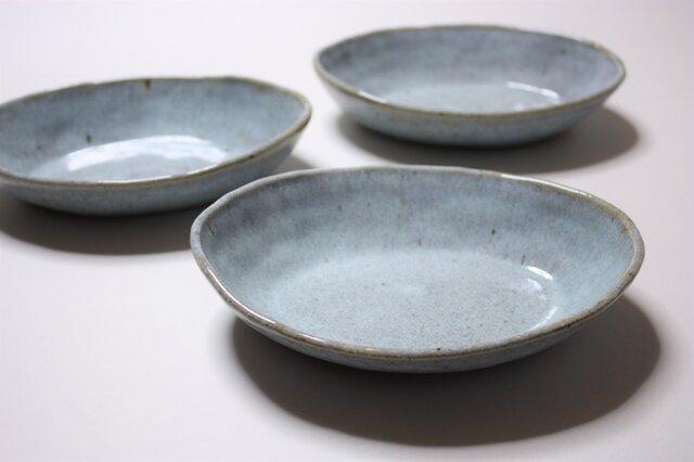 松灰釉舟形鉢の画像1枚目