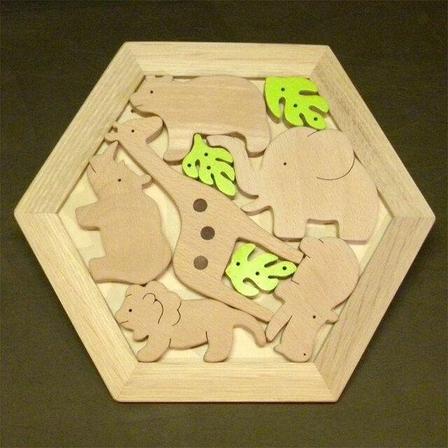 木のパズル どうぶつたち Aの画像1枚目