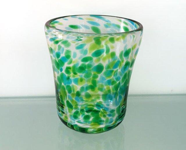 彩グラス(青葉05)の画像1枚目