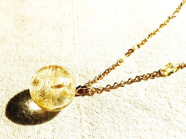タンポポのきらきらネックレスの画像1枚目