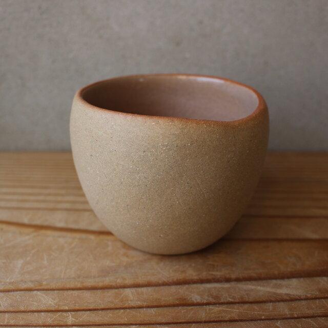 育てるウツワ 揺ら フリーカップ(地シリーズ)茶 陶土の画像1枚目