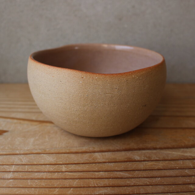 育てるウツワ 揺ら ボウル(地シリーズ)茶 陶土の画像1枚目