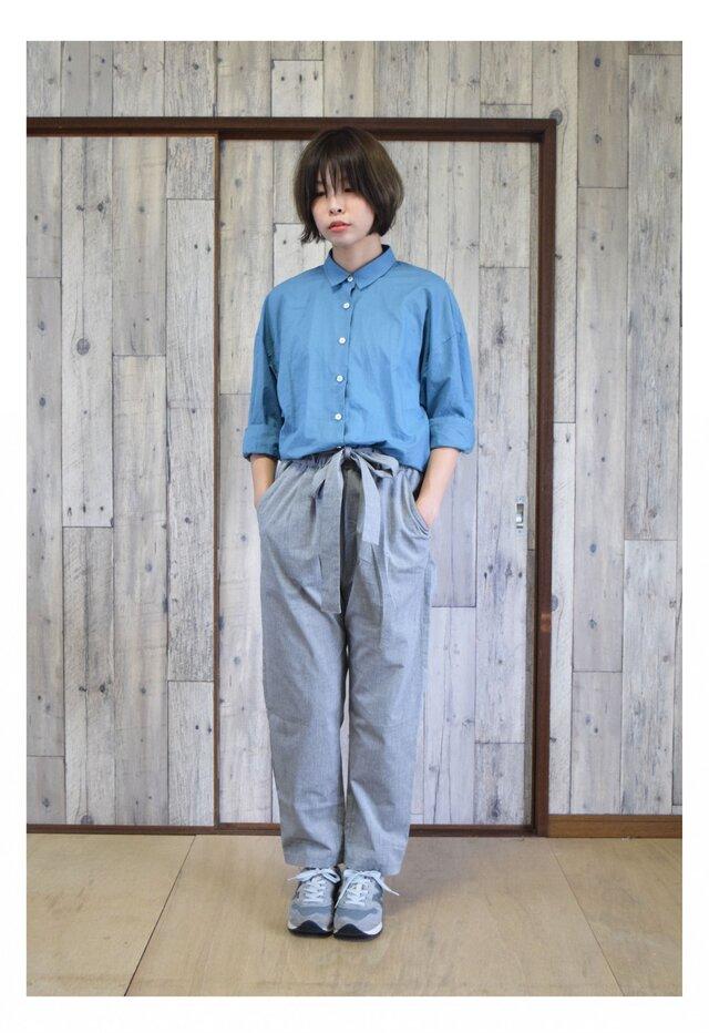 ¥2000-OFF bansyuori cotton/linen wide shirt コットン/リネン ワイドシャツの画像1枚目