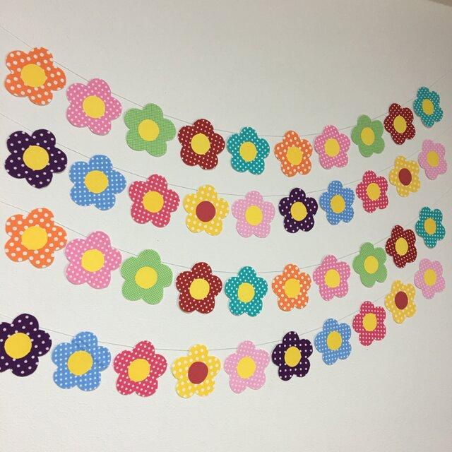 壁面飾り 花のガーランドの画像1枚目