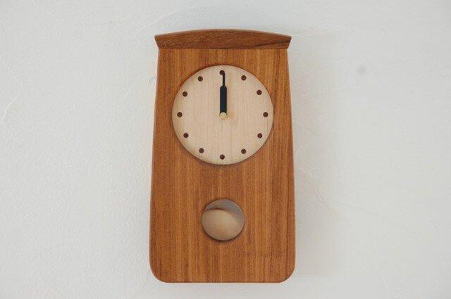 N様ご注文 振り子時計ミニ チークの画像1枚目