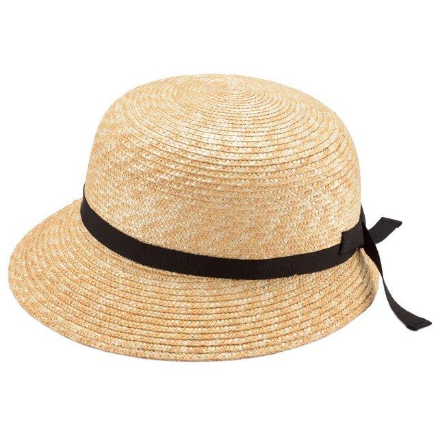 Petit プティ つば短女優帽 子供用 54cm [UK-H010-PEBK54]の画像1枚目
