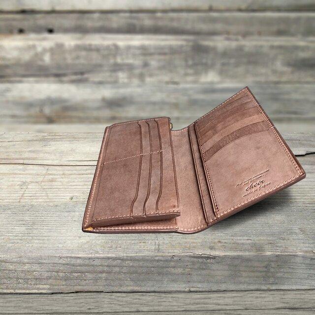 男の本革Slim長財布 --- 希少国産牛革ロロマ [ブラウン]の画像1枚目