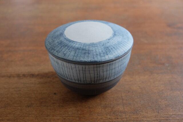 インディゴ 陶おひつ 1合の画像1枚目