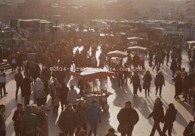 Istanbul / Turkey 「影が伸びる夕暮れの広場」 ポストカード2枚セットの画像1枚目