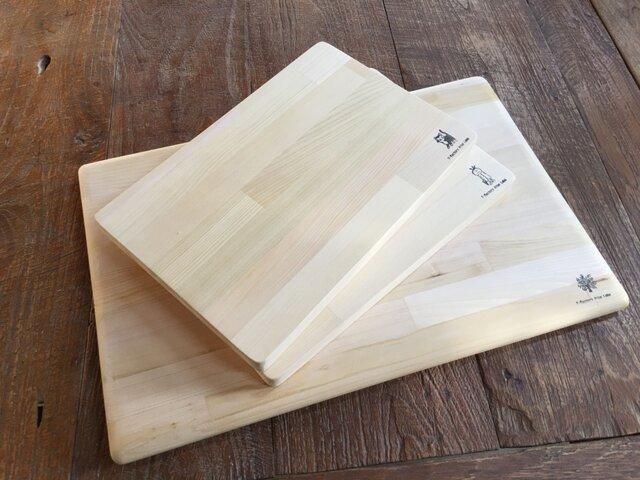 カビに強い 青森ヒバのまな板S 30cm 寄せ木の画像1枚目
