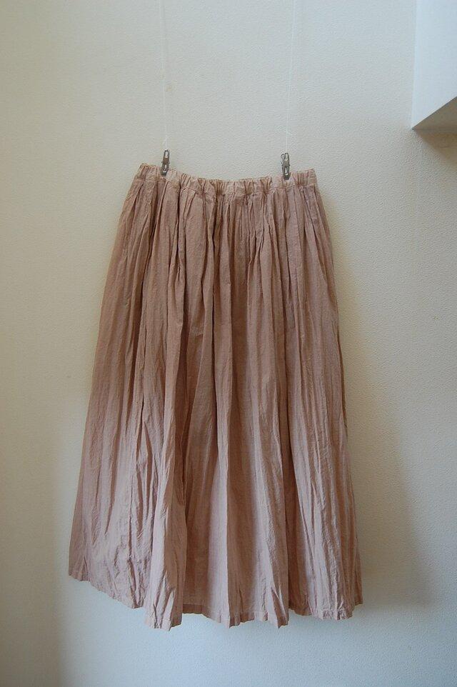 「Sさまご注文分 草木染めスカート -ヤマザクラ- 丈82cm」の画像1枚目
