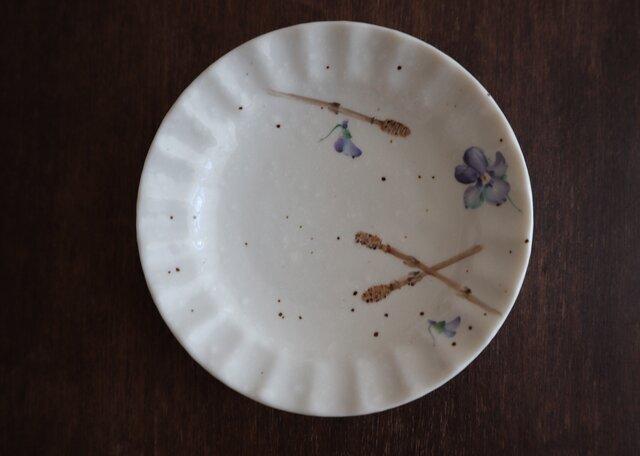 豆皿〜すみれとつくしの画像1枚目