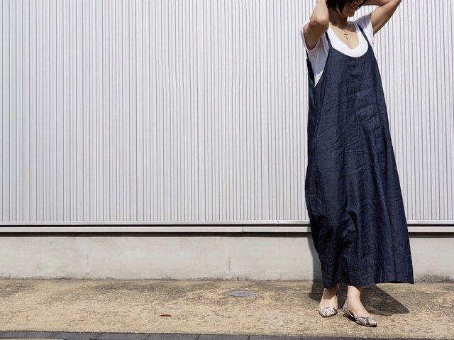 デニムサロペットスカートの画像1枚目