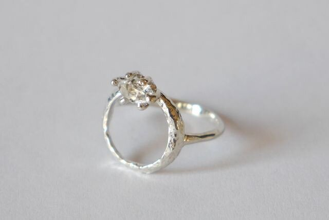 Herkimer diamond baby ring(sv) ハーキマーダイヤモンド★ベビーリング★の画像1枚目