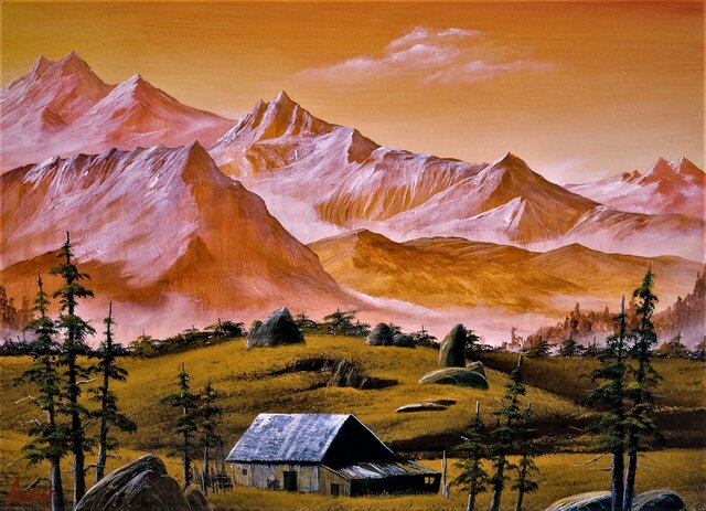 かすむ山の画像1枚目