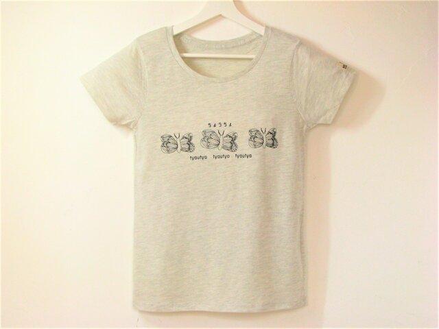 【M】ちょうちょ Tシャツ レディースの画像1枚目