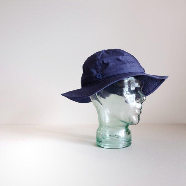 コットン ブロード / リボンと遊ぶ帽子【 ネイビー 】の画像1枚目
