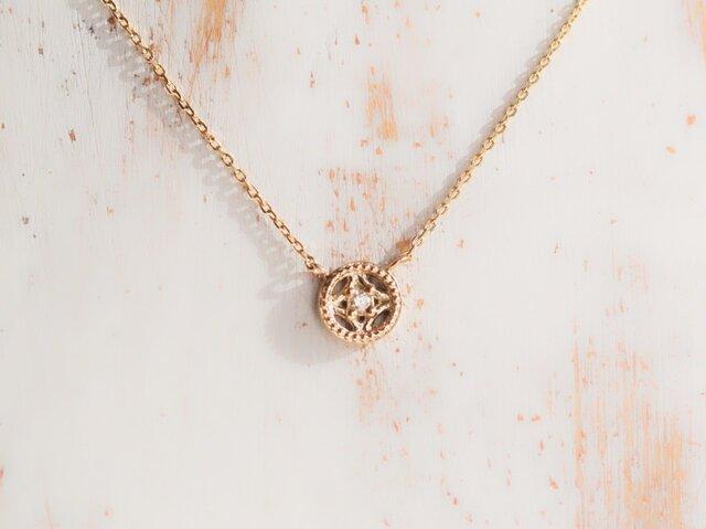 【受注製作】プチリュミエール ネックレス diamond ダイヤモンド K10YGの画像1枚目
