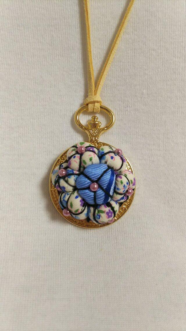 花の懐中時計のネックレスの画像1枚目