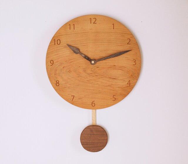 木製 振り子時計 桜材3の画像1枚目