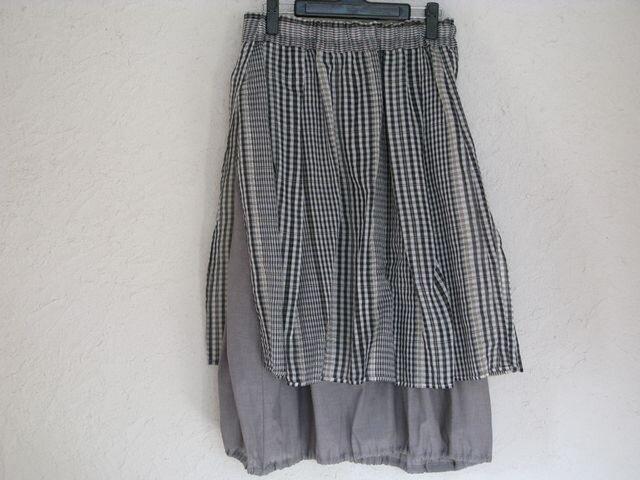 コットンシルクオーバースカート&コットンバルーンスカートの画像1枚目
