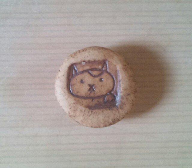 招き猫マグネット ブチの画像1枚目