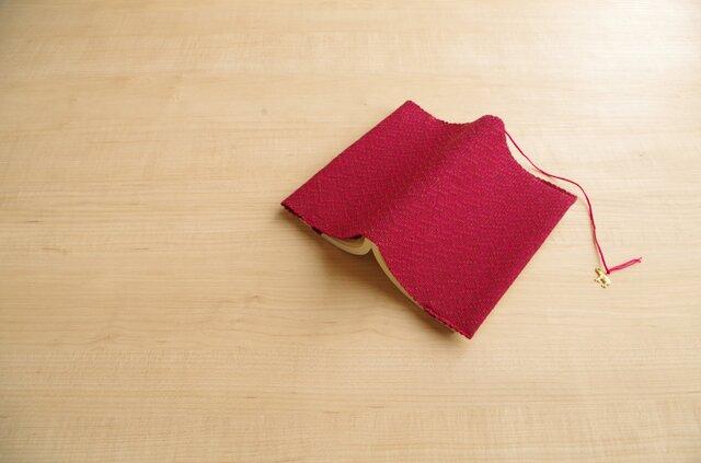 手織りブックカバー(新書)レッドブラウンの画像1枚目