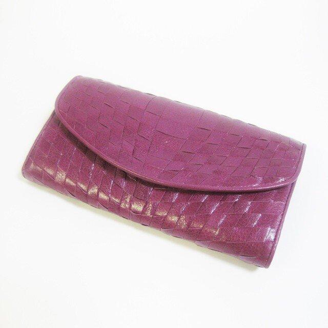 イントレロングウォレット <Purple> 送料無料☆ラッピング無料☆ 二つ折り財布の画像1枚目