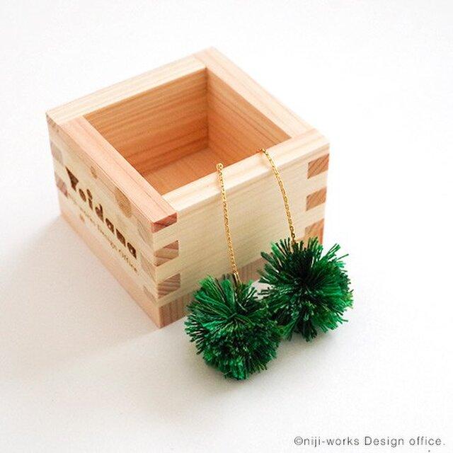 よいだま - 酔玉 Yoidama - ピアス「シンシュ」(w.ヒノキの三勺升)の画像1枚目