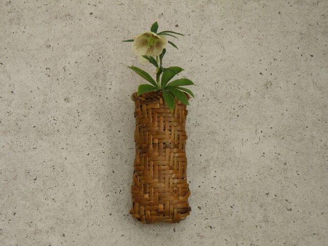掛け花籠 鉈鞘籠 根曲り竹 煤竹 鳳尾竹 の画像1枚目
