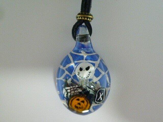ジャック、ハロウィンNO.4(ブルー、十字架、カボチャ)の画像1枚目