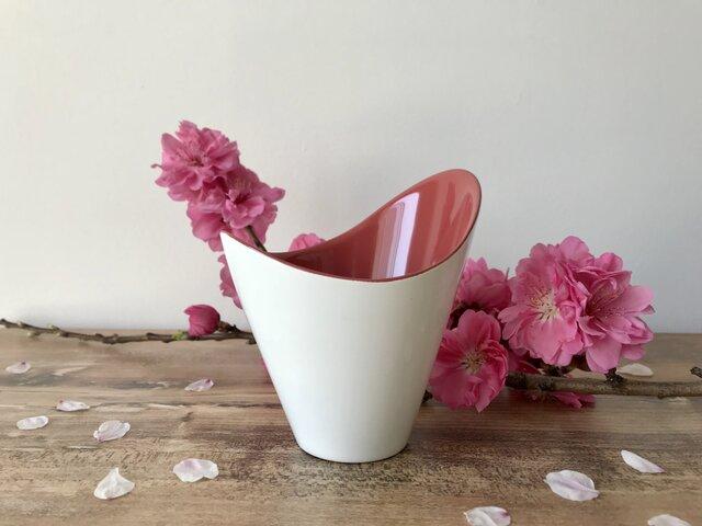 FLOREPOLIE 漆器カップ 桜(白×ピンク)の画像1枚目