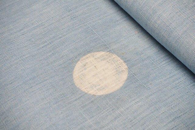 asa0019 浅黄色麻布 100cm☆古布古裂/木綿/筒描き/型染め/藍染/絹/ボロ襤褸の画像1枚目