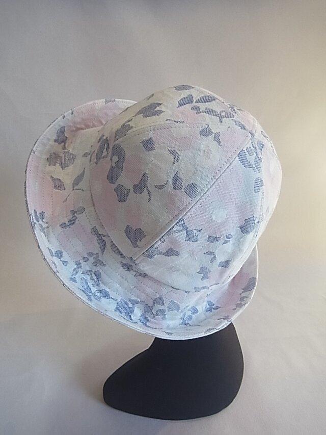 淡い色合のコットン6枚ハギ帽子の画像1枚目