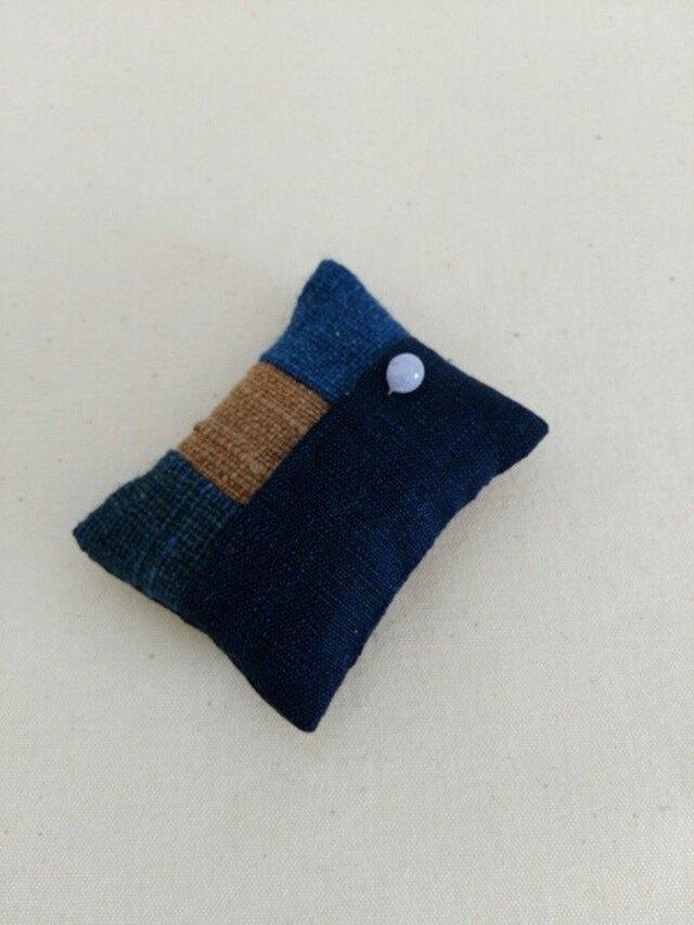 手紡ぎ手織り三河木綿使用 和裁士さんのお針山の画像1枚目