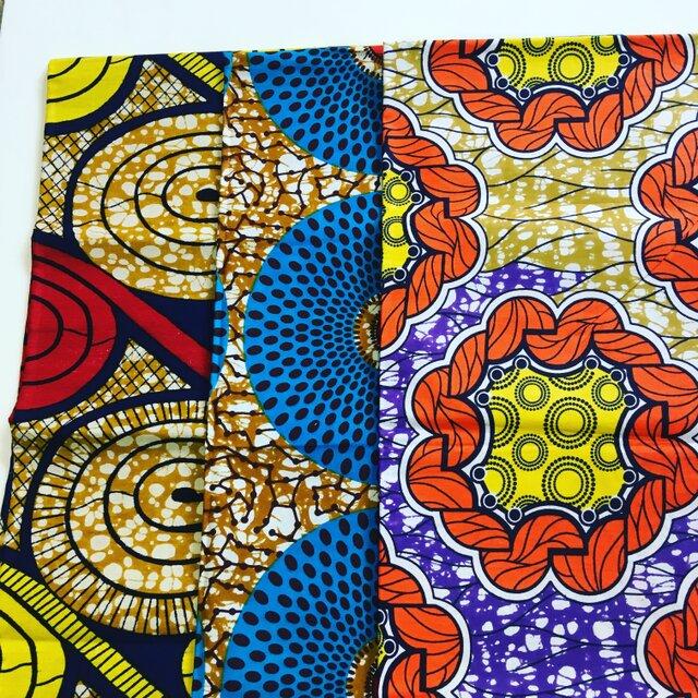 アフリカ 布 福袋(1ヤード×3点セット)の画像1枚目