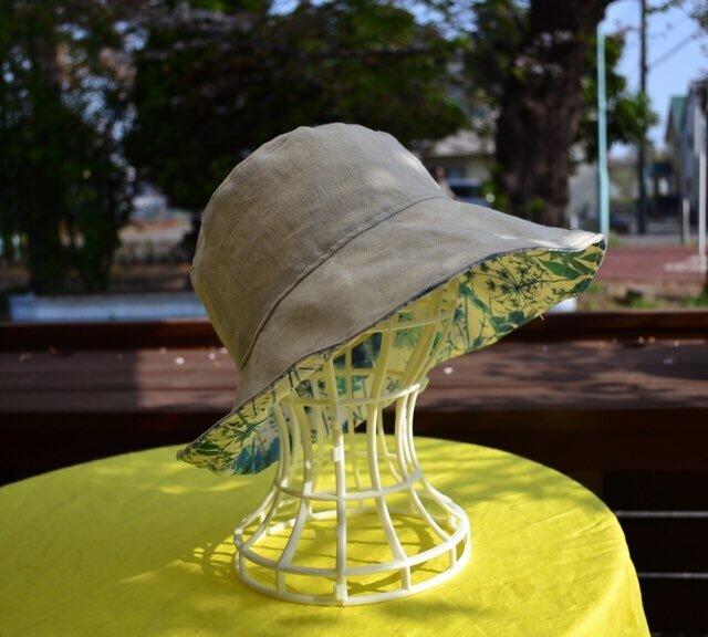 ベーシックナチュラル リネン リバティirma 帽子  55〜57cmの画像1枚目