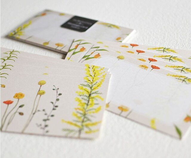 黄色い花たちのメッセージカードの画像1枚目