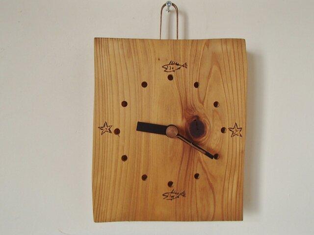 日田杉の時計の画像1枚目
